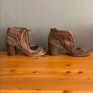 Vince Camuto Tarita Laser Cut Booties, Size 6